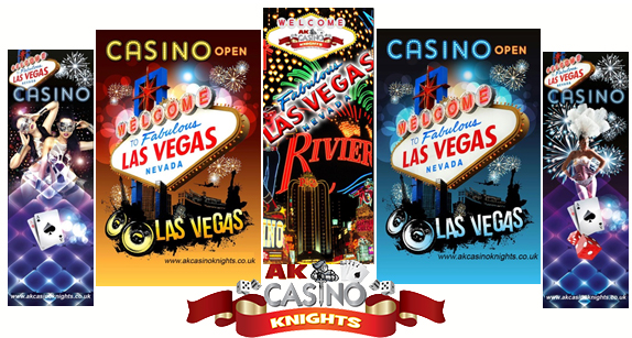 A KCasino Knights Vegas Banners available for hire