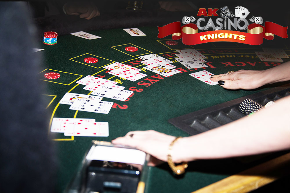 Fun Casino for weddings, dealing blackjack