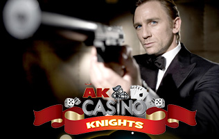 James Bond theme hire at A K Casino Knights