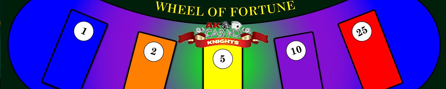 play wheel of fortune at A K Casino Knights