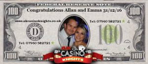 Personalised wedding fun money