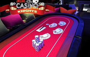 Hire Texas Holdem Poker at A K Casino Knights
