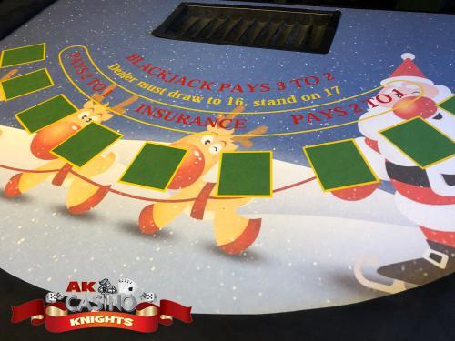 A K Casino Knights Christmas casino blackjack, christmas layouts Kent