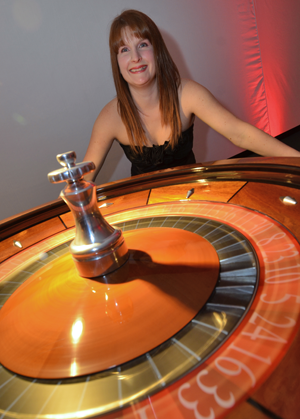 A K Casino Knights Roulette wheel